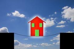 Gefahren und Gefahren eines Hauses lizenzfreie stockbilder