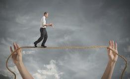 Gefahren und Herausforderungen des Geschäftslebens Stockbild