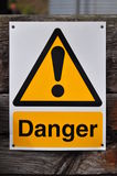 Gefahren-Zeichen Lizenzfreies Stockbild
