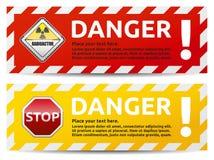Gefahrenfahne Stockbild