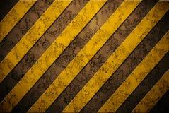 Gefahrenhintergrund auf Wand Stockfoto