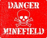 Gefahrenminenfeld Stockbilder
