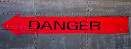 Gefahrenpfeil Lizenzfreies Stockfoto
