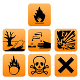 Gefahrenpiktogramme Europa-Standard Stockfoto