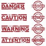 Gefahrenstempel lizenzfreie abbildung