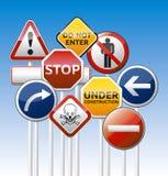Gefahrenstraßenbrett-Mischungssammlung Stockbilder