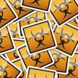 Gefahrensymbolikone Lizenzfreie Stockbilder