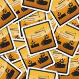 Gefahrensymbolikone Lizenzfreies Stockfoto