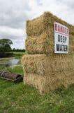 Gefahrentiefes Wasser Stockfotografie