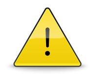Gefahrenwarnendes Aufmerksamkeitszeichen Stockbilder