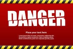 Gefahrenwarnzeichenschablone für Ihren Text Lizenzfreie Stockfotografie