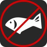 Gefahrenzettel des strengen Vegetariers Keine Fische, Vegetarier stock abbildung