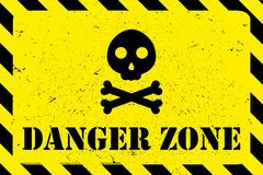 Gefahrenzonen-Schmutzhintergrund lizenzfreie abbildung