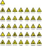 Gefahrsymbole Lizenzfreies Stockfoto