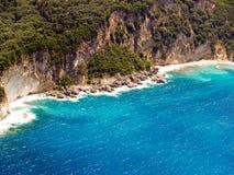 Gefallene Felsen, Luftaufnahme Stockbild