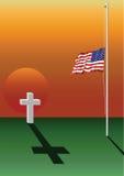 Gefallenes Soldatgrab Stockbild