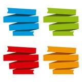 Gefaltete Bandfahnen, differents Farben Lizenzfreies Stockfoto