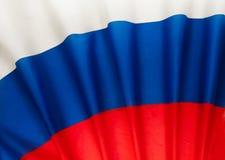 Gefaltete Flagge der Russischen Föderation als Hintergrund Stockfoto