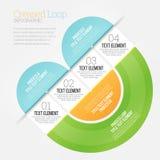 Gefaltete Schleife Infographic Lizenzfreies Stockfoto