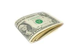 Gefaltete US-Dollar Rechnungen Lizenzfreie Stockfotos