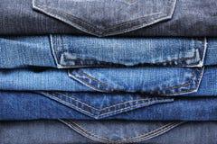 Gefalteter Baumwollstoffstapelhintergrund Lizenzfreies Stockfoto