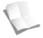Gefaltetes Blatt Papier Stockbilder