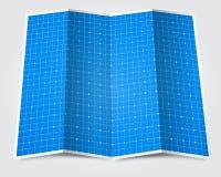 Gefaltetes Planpapier Stockfoto
