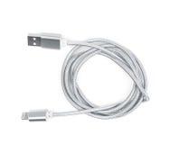 Gefaltetes USB-Blitzkabel lokalisiert Stockbild