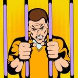 Gefangener am Gefängnis lizenzfreie abbildung