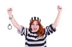 Gefangener in gestreifter Uniform Lizenzfreie Stockfotografie