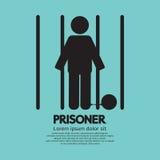 Gefangener im Gefängnis-Symbol vektor abbildung