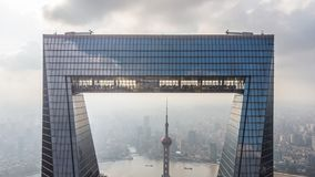 Gefangennahme von Shanghai und von Perlen-Turm durch den Öffner von Shanghai lizenzfreie stockfotos