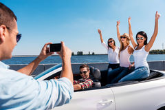 Gefangennehmen von glücklichen Momenten Lizenzfreie Stockbilder
