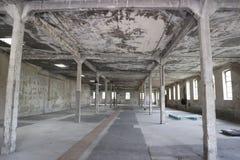 Gefangenschlafenhalle im Osthofen-Konzentrationslager lizenzfreies stockbild