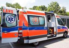 Geöffneter Krankenwagen Stockbild