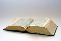 Geöffnetes altes Buch Stockbild