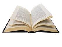 Geöffnetes Buch getrennt im Weiß Stockfotos