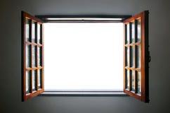 Geöffnetes Fenster Stockfoto
