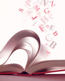 Geöffnetes magisches Buch Lizenzfreies Stockbild
