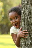 Gefühle, spielerisches Afroamerikaner-Kind Lizenzfreie Stockfotografie