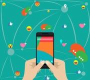 Gefühle und Social Media-Gemeinschaften Lizenzfreies Stockfoto