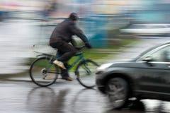 Gefährliche Stadtverkehrssituation Stockbild