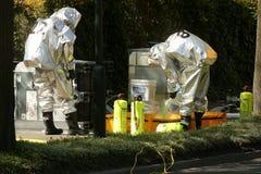 Gefährlicher chemischer Unfall im Straßen-Verkehr Stockbilder