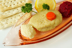 Gefilte fish Royalty Free Stock Images