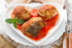 Gefilte fish on the plate Royalty Free Stock Photos