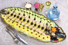 Gefilte fish, stuffed fish, stuffed pike Royalty Free Stock Image