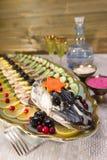 Gefilte fish, stuffed fish, stuffed pike Royalty Free Stock Images