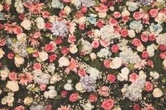 Gefilterter Hintergrund, Tapete der schönen Blumenhochzeitsdekoration Stockbild