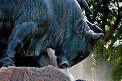 Gefion公牛的头 库存照片