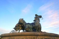 Gefion喷泉在哥本哈根,丹麦 库存照片